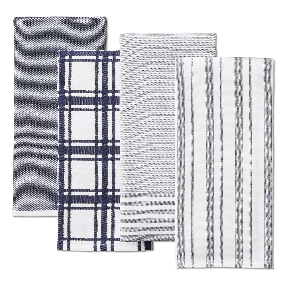 Williams Sonoma Multi-Pack Absorbent Tea Towels, Navy