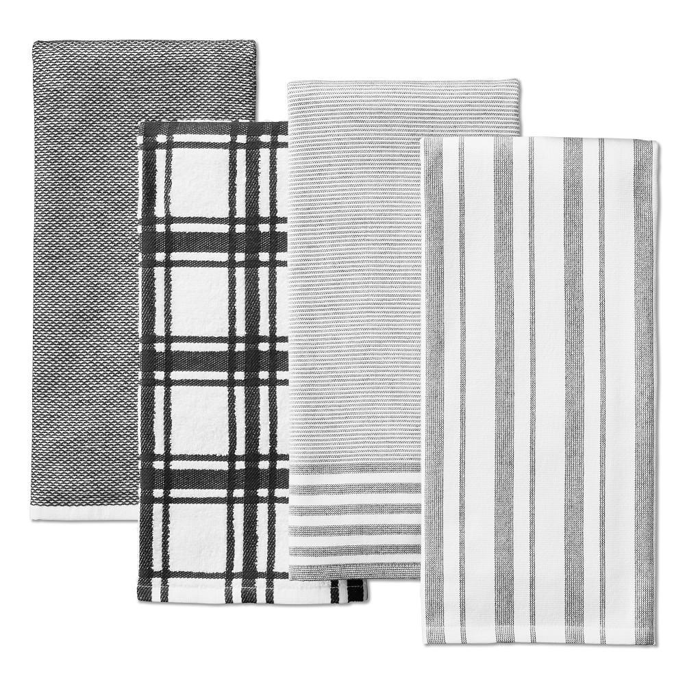 Williams Sonoma Multi-Pack Absorbent Tea Towels, Black
