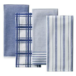 Williams Sonoma Multi-Pack Absorbent Tea Towels, Bright Blue