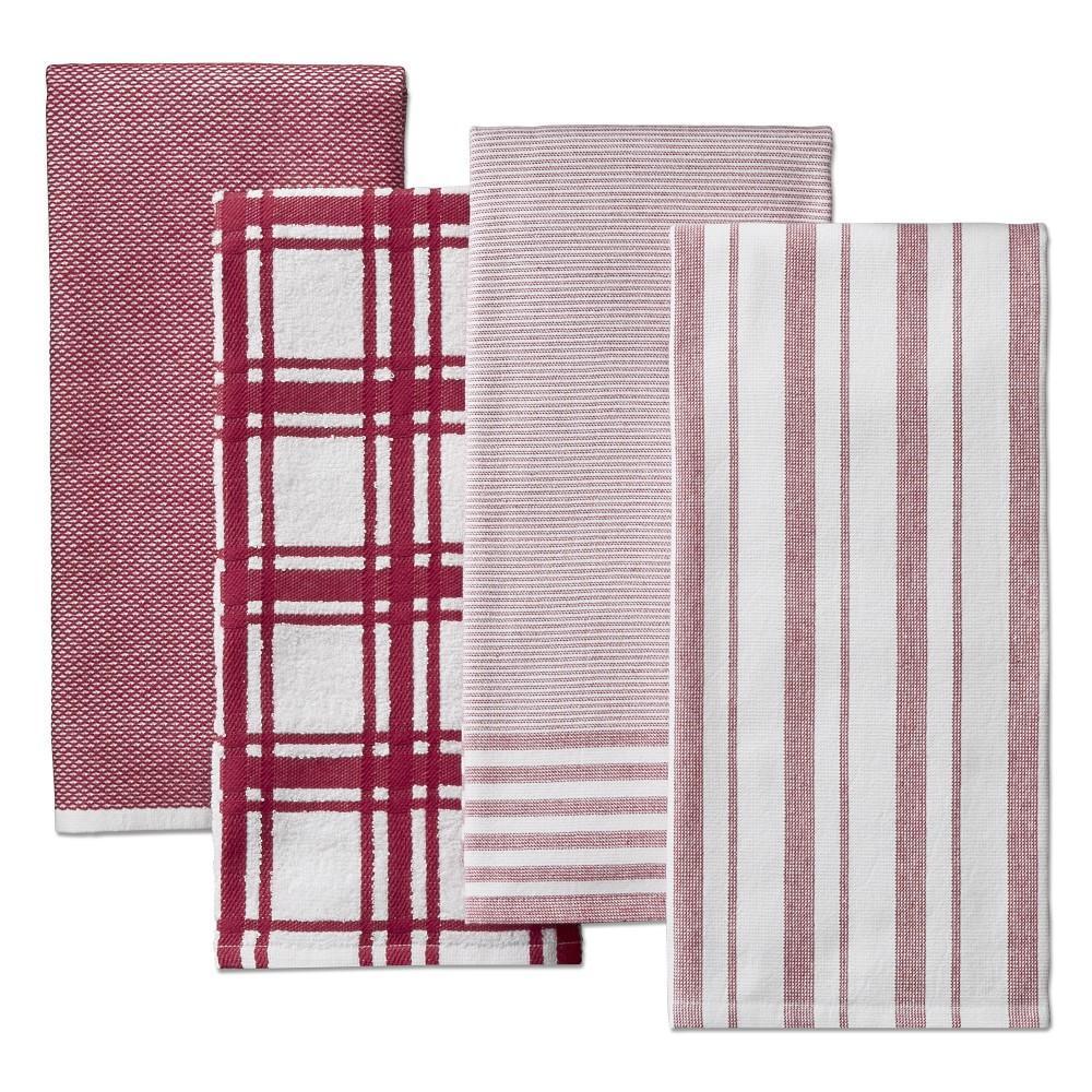 Williams Sonoma Multi-Pack Absorbent Tea Towels, Claret