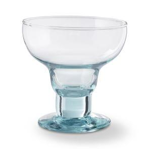 Williams Sonoma Nueva Recycled Glass Margarita Glass