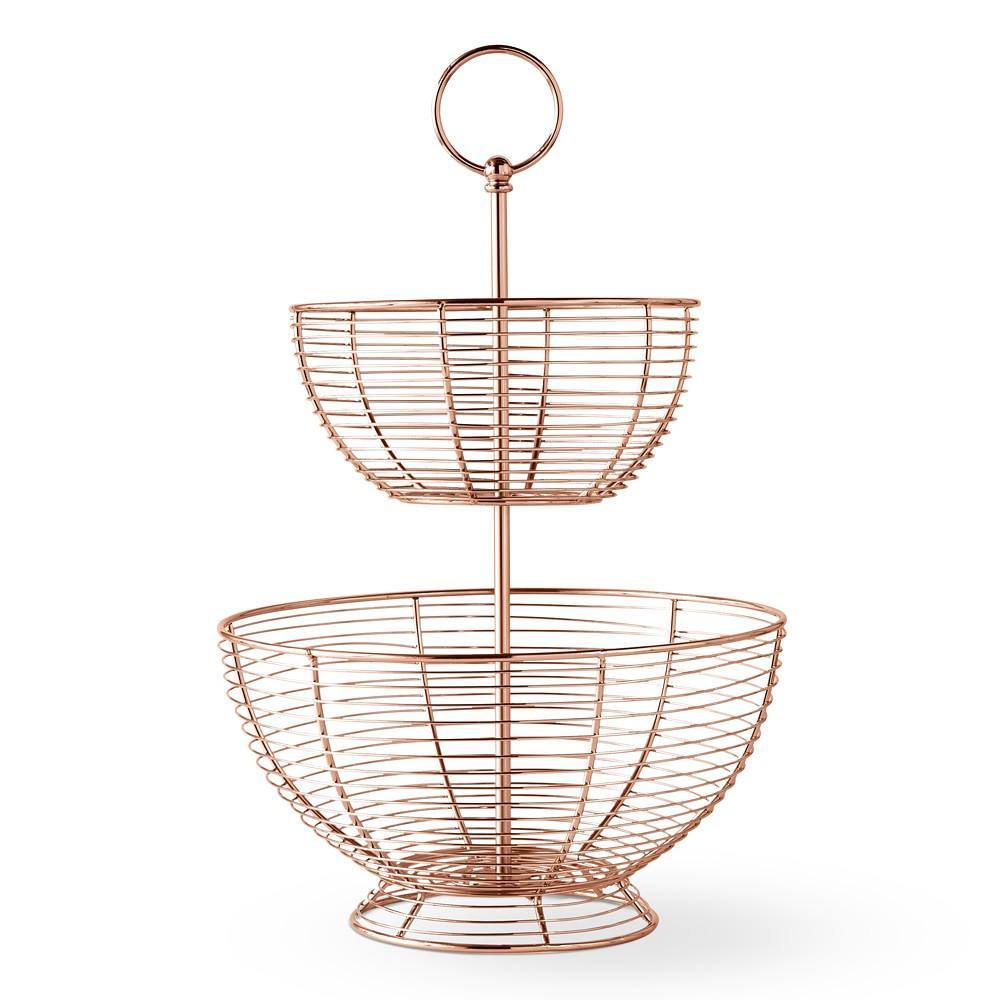 Copper Wire Fruit Basket Tiered Williams Sonoma Au