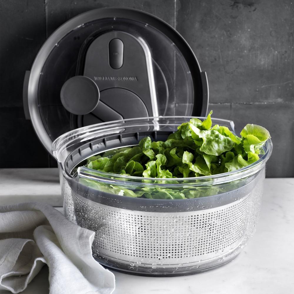 Williams Sonoma Stainless Steel Salad Spinner