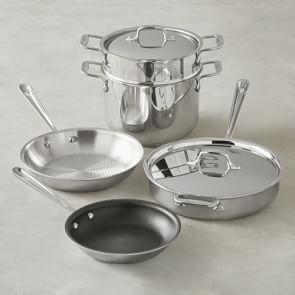 All-Clad Stainless Steel 7-Piece Healthy Cookware Set