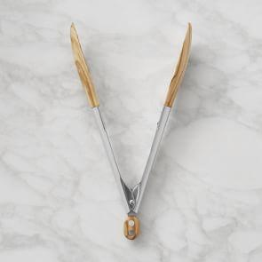 Williams Sonoma 23 cm Wood Tongs