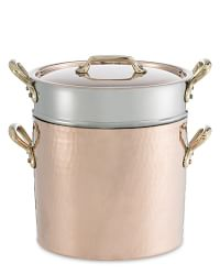 Mauviel Copper Pasta Pentola with Lid & Insert