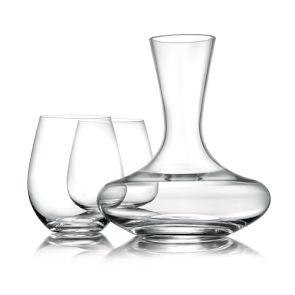 Williams Sonoma Reserve Stemless Pinot Noir Wine Glasses & Decanter
