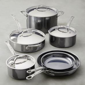 Hestan NanoBond™ Stainless-Steel 10-Piece Cookware Set