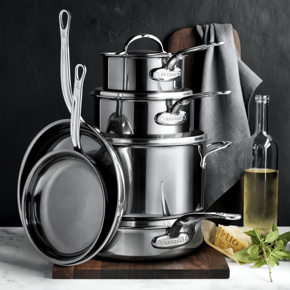 Hestan NanoBond™ Stainless-Steel 10-Piece Cookware Set