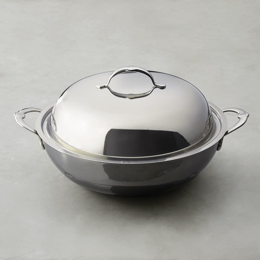 Hestan NanoBond™ Stainless-Steel Wok with Lid