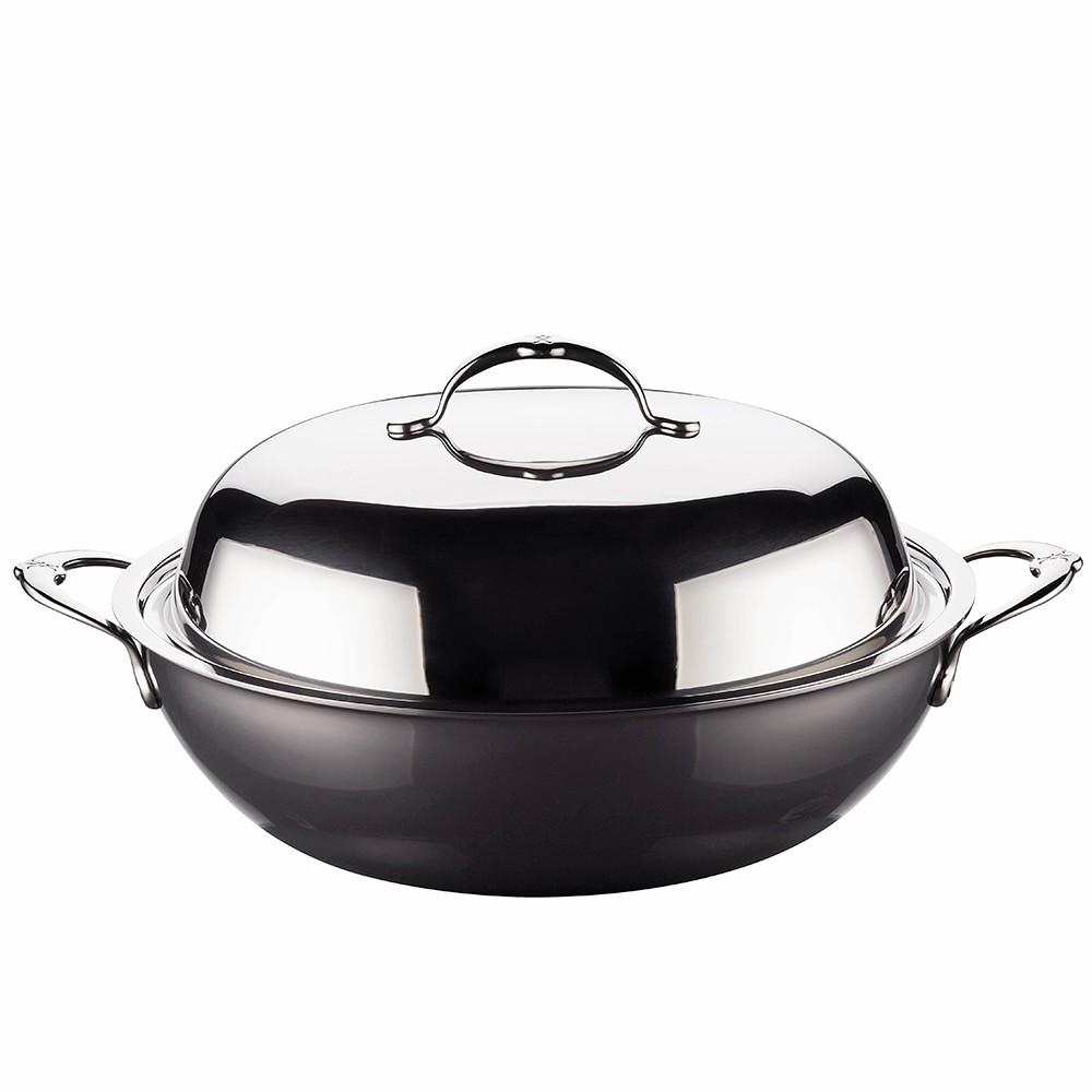 Hestan Nanobond Stainless Steel Wok With Lid Williams Sonoma Au