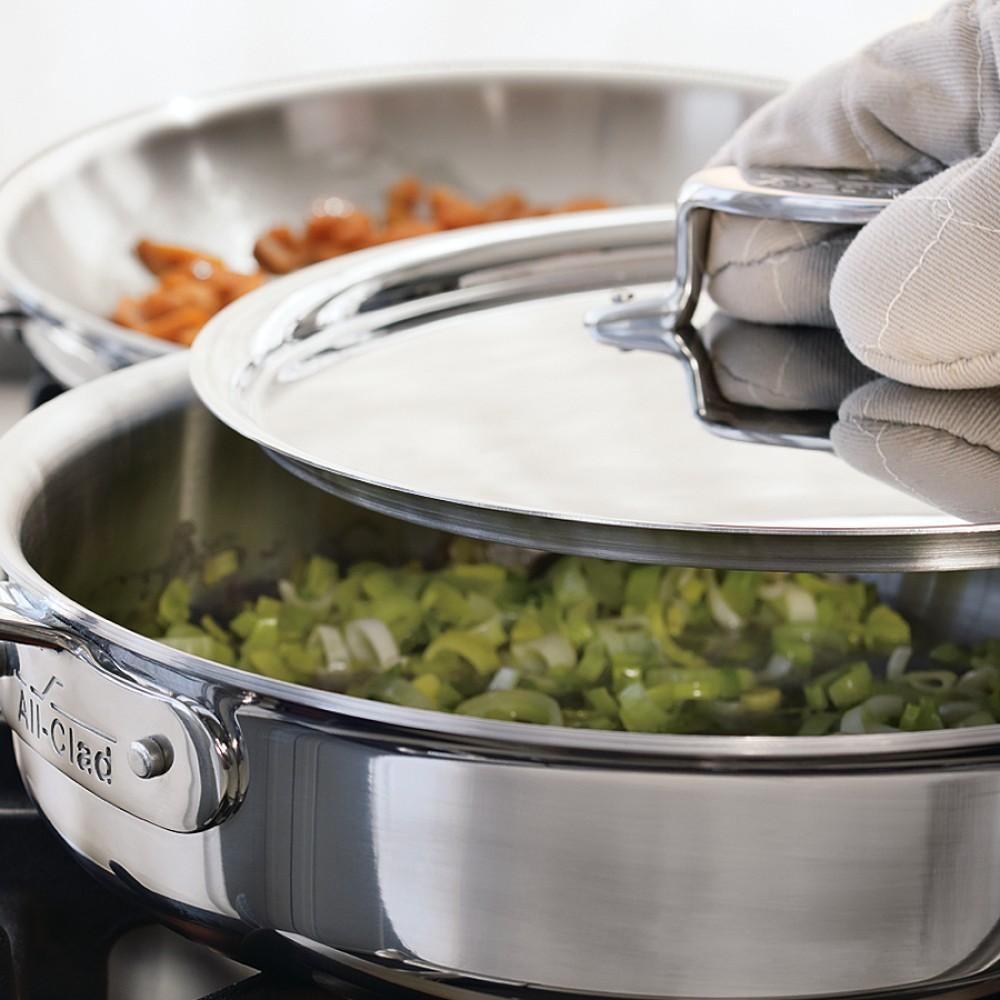 All-Clad d5 SS 4-Qt. Deep Sauté Pan with Splatter Screen