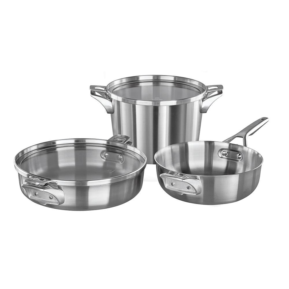 Calphalon Premier Space-Saving Stainless Steel 5-Piece Cookware Set