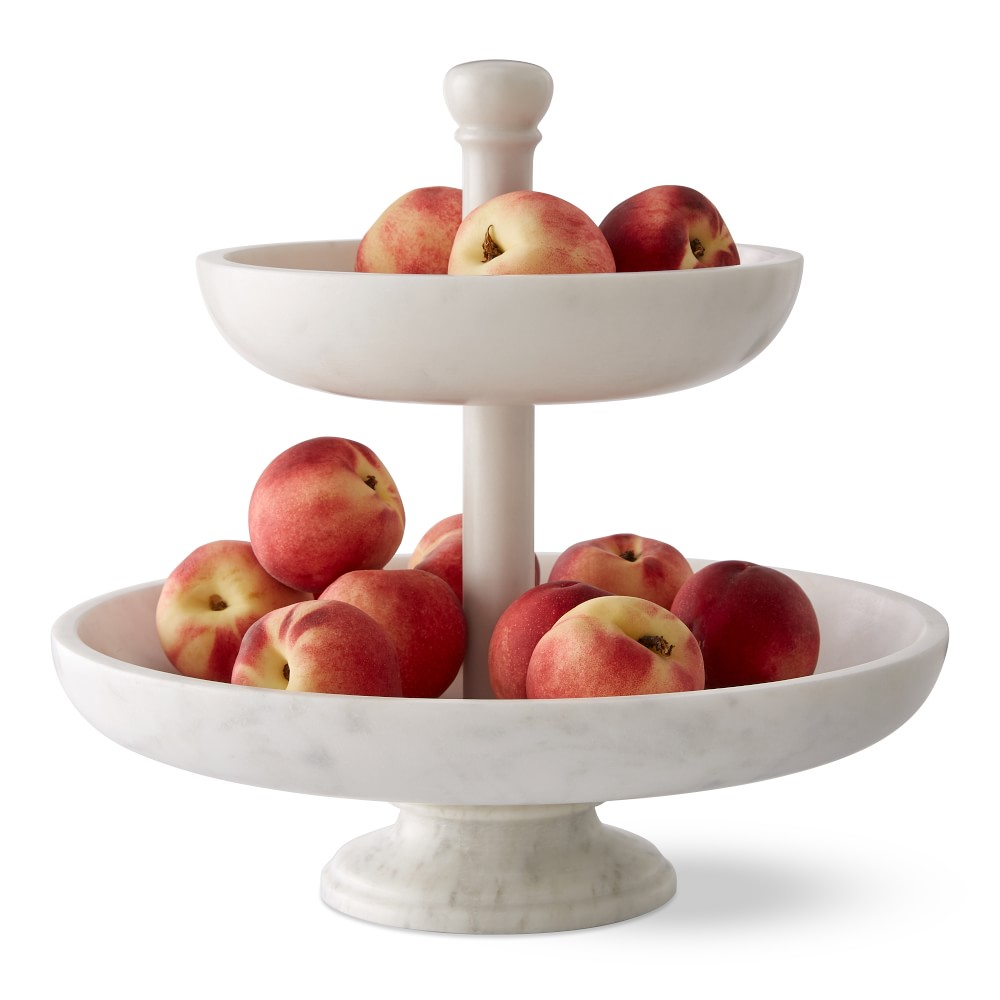 Marble Tiered Fruit Basket