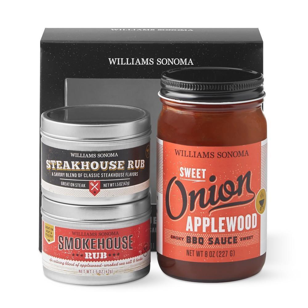 Williams Sonoma Mini BBQ Sauce & Rub Set