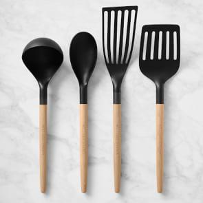 Williams Sonoma Nonstick Utensils with Wooden Handles, Set of 4