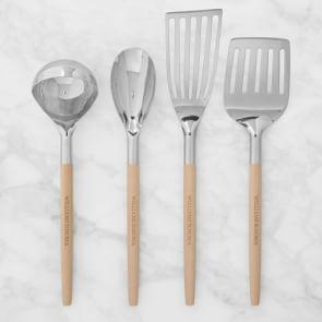 Williams Sonoma Stainless-Steel Utensils with Wooden Handle, Set of 4