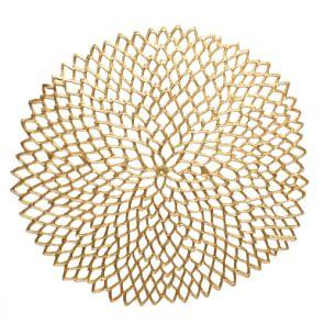 Chilewich Dahlia Brass Placemat