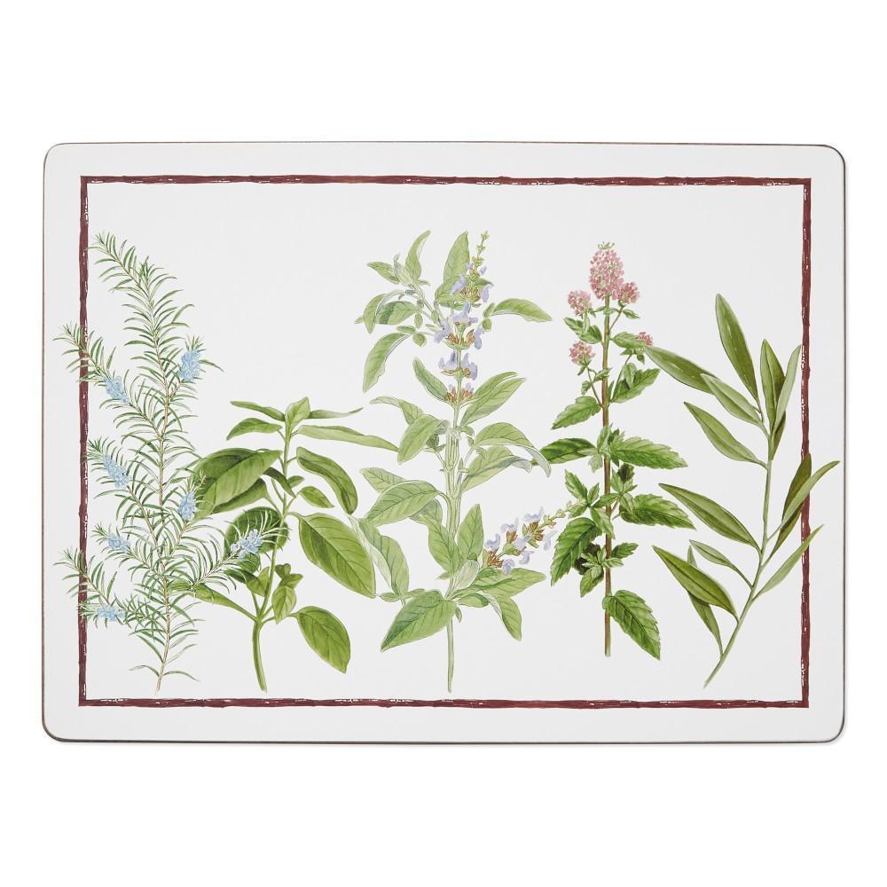 Botanical Herbs Hard Placemat