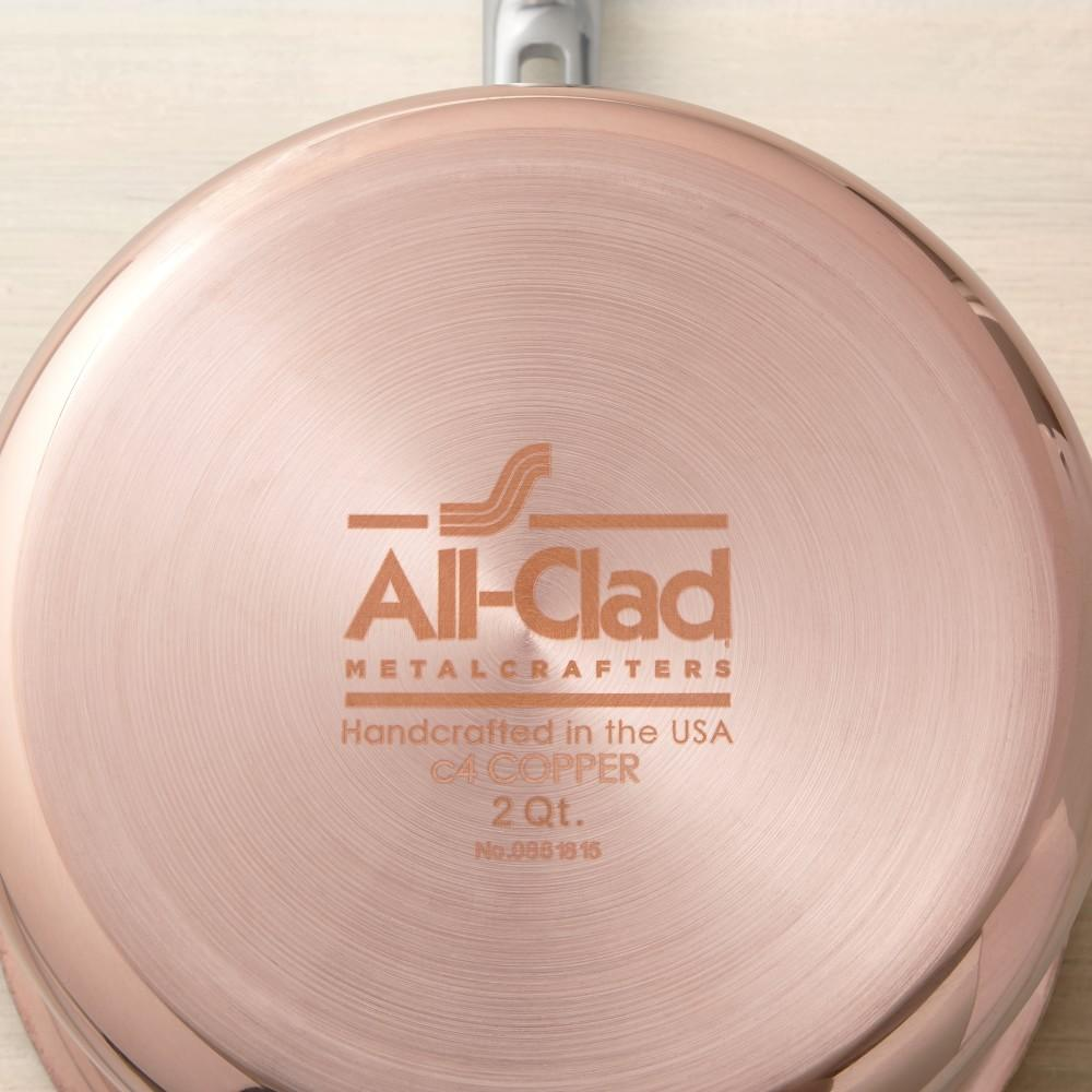 All-Clad C4 Copper Saucepan, 2.8-L.