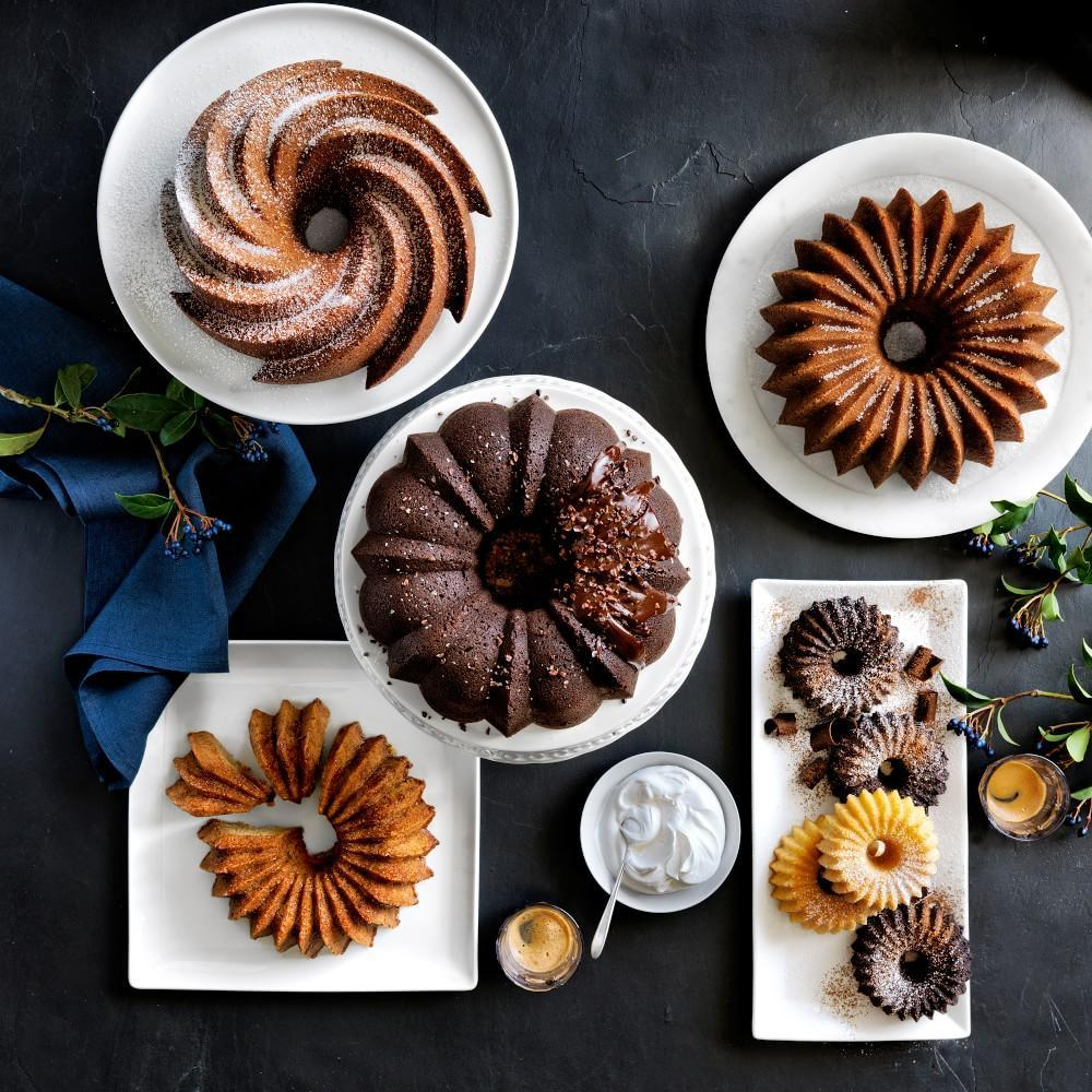 Nordic Ware Brilliance Cakelet Pan, 6-Well