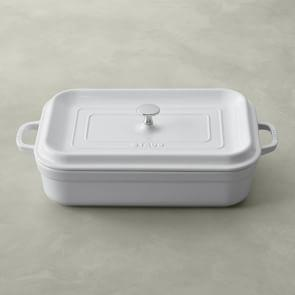Staub Stoneware Rectangular Covered Baker