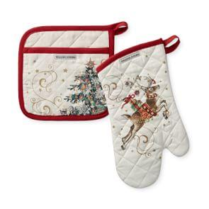 Twas the Night Before Christmas Oven Mitt & Pot Holder Set