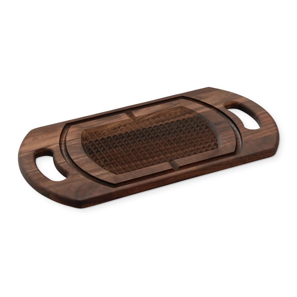 Double-Handled Carving and Roasting Cutting Board, Walnut