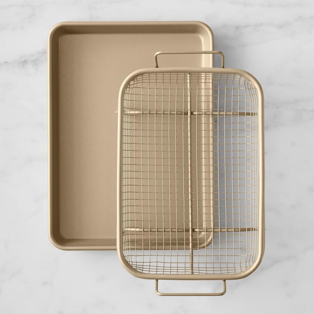 Williams Sonoma Goldtouch® Non-Stick Quarter-Sheet Roasting Set