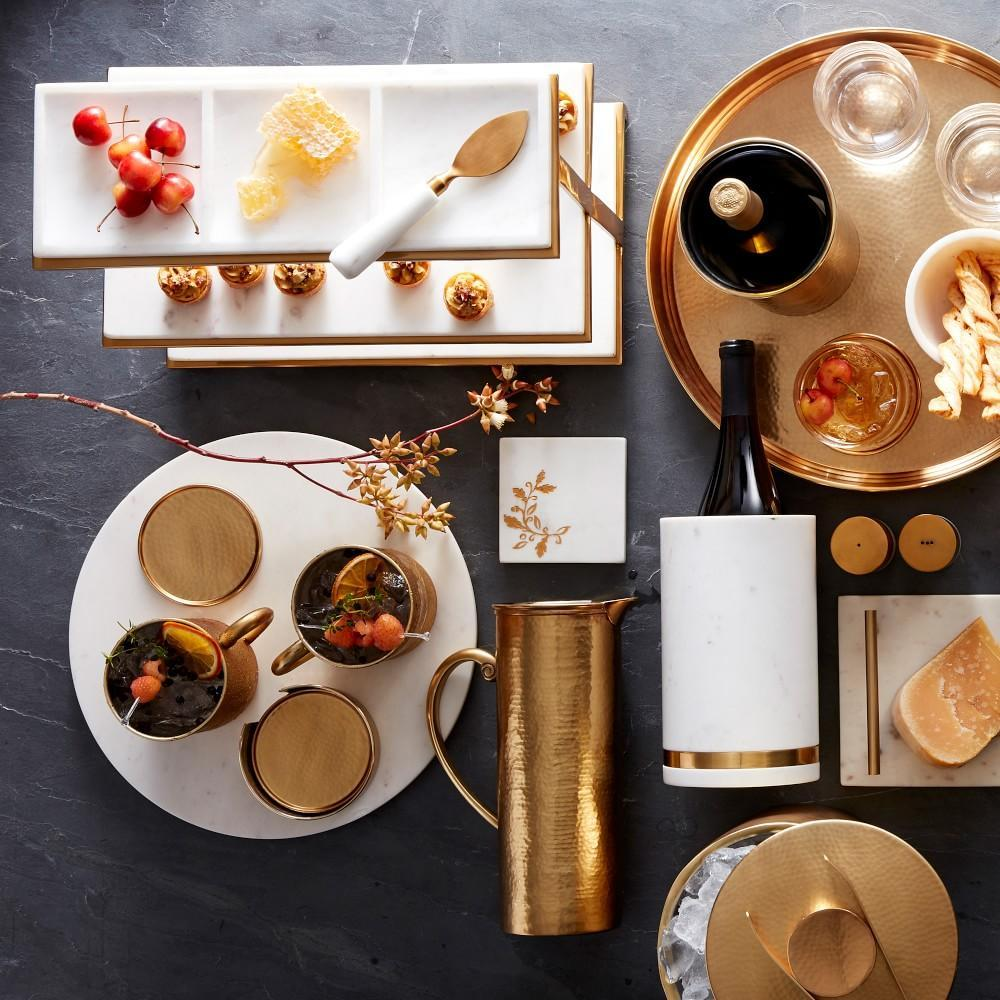 Marble & Brass Round Board