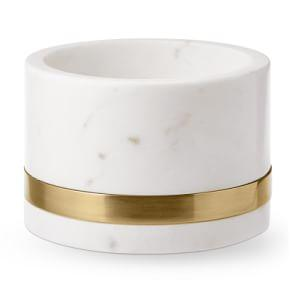 Marble & Brass Wine Coaster