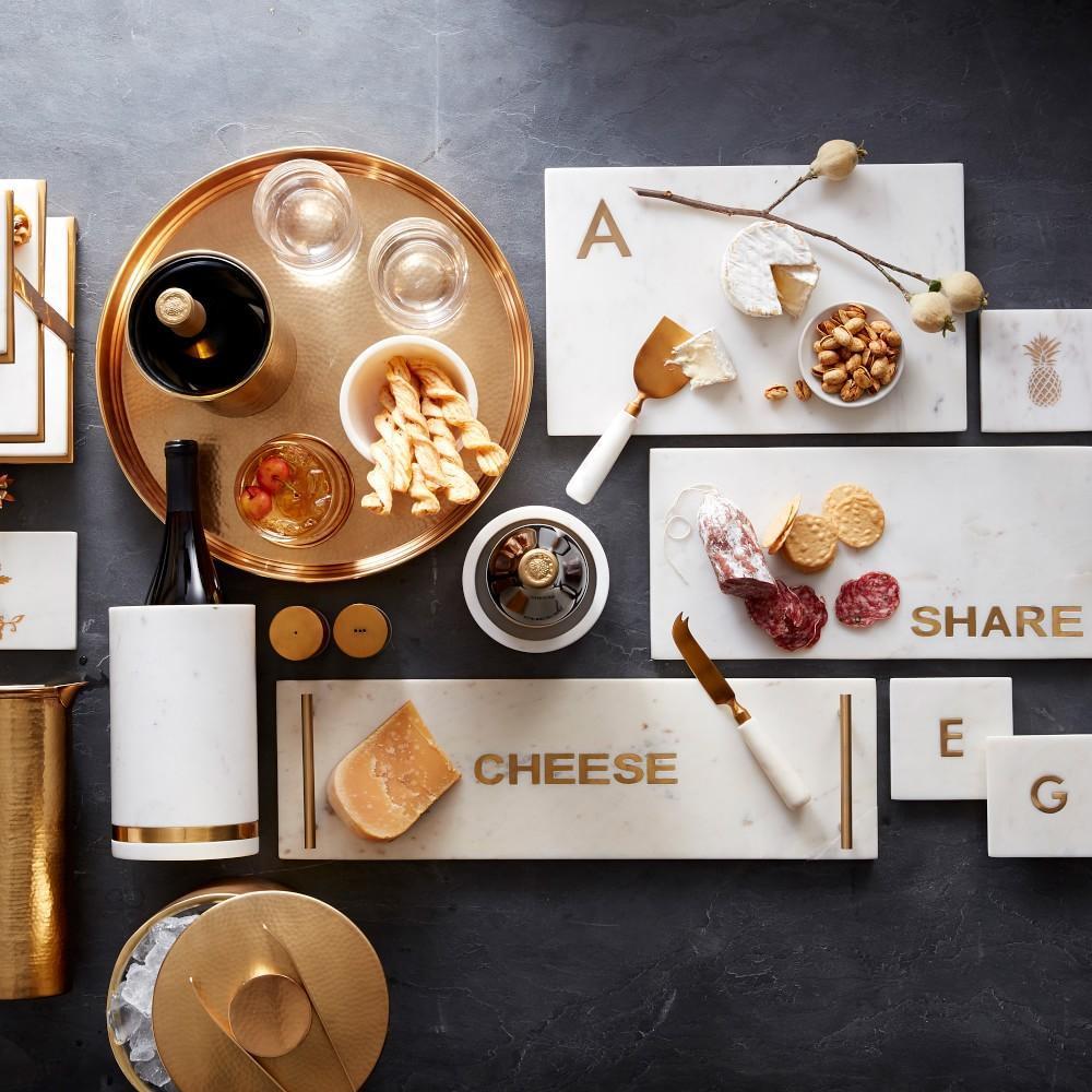 Marble & Brass Wine Coaster