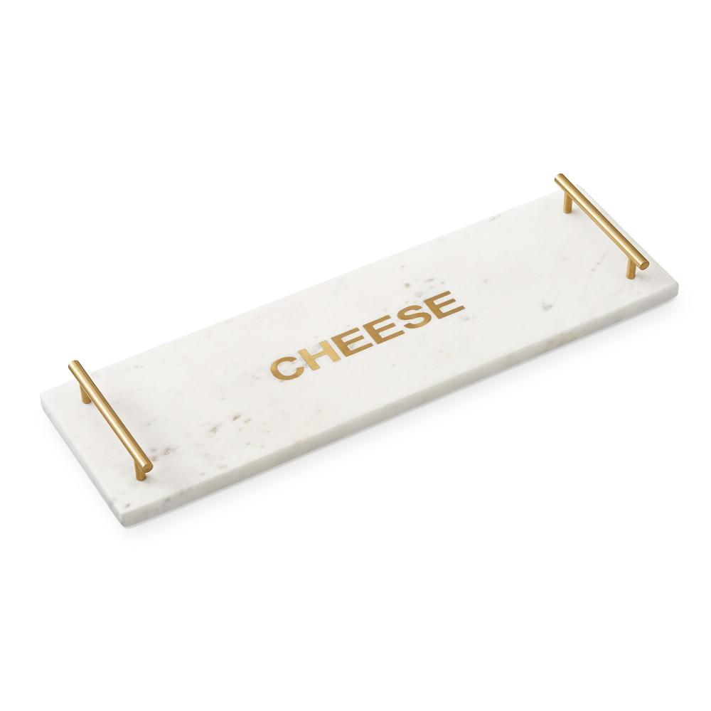 "Marble & Brass ""Cheese"" Rectangular Board"