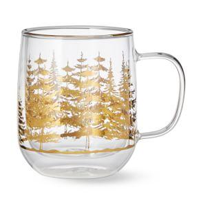 Decorated Double Wall Forest Mug