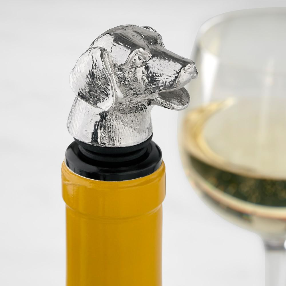 Dog Wine Stopper with Pourer