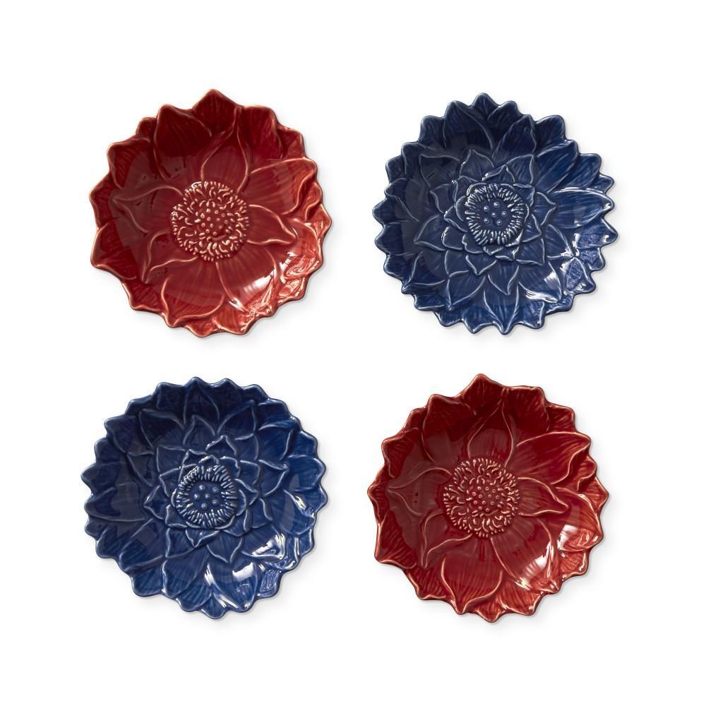 Figural Lotus Mixed Dipping Bowl, Blue