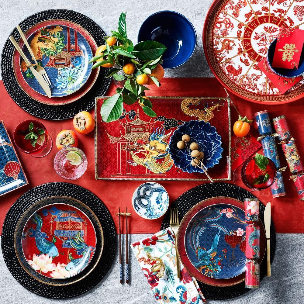 Lunar Dinner Plate, Dragon