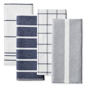 Super Absorbent Waffle Weave Multi-Pack Tea Towels, Navy