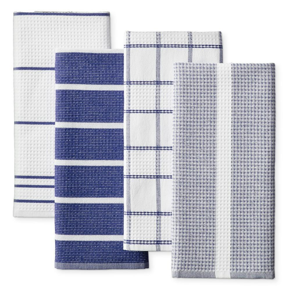 Super Absorbent Waffle Weave Multi-Pack Tea Towels, Bright Blue
