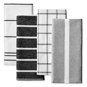 Super Absorbent Waffle Weave Multi-Pack Tea Towels, Black