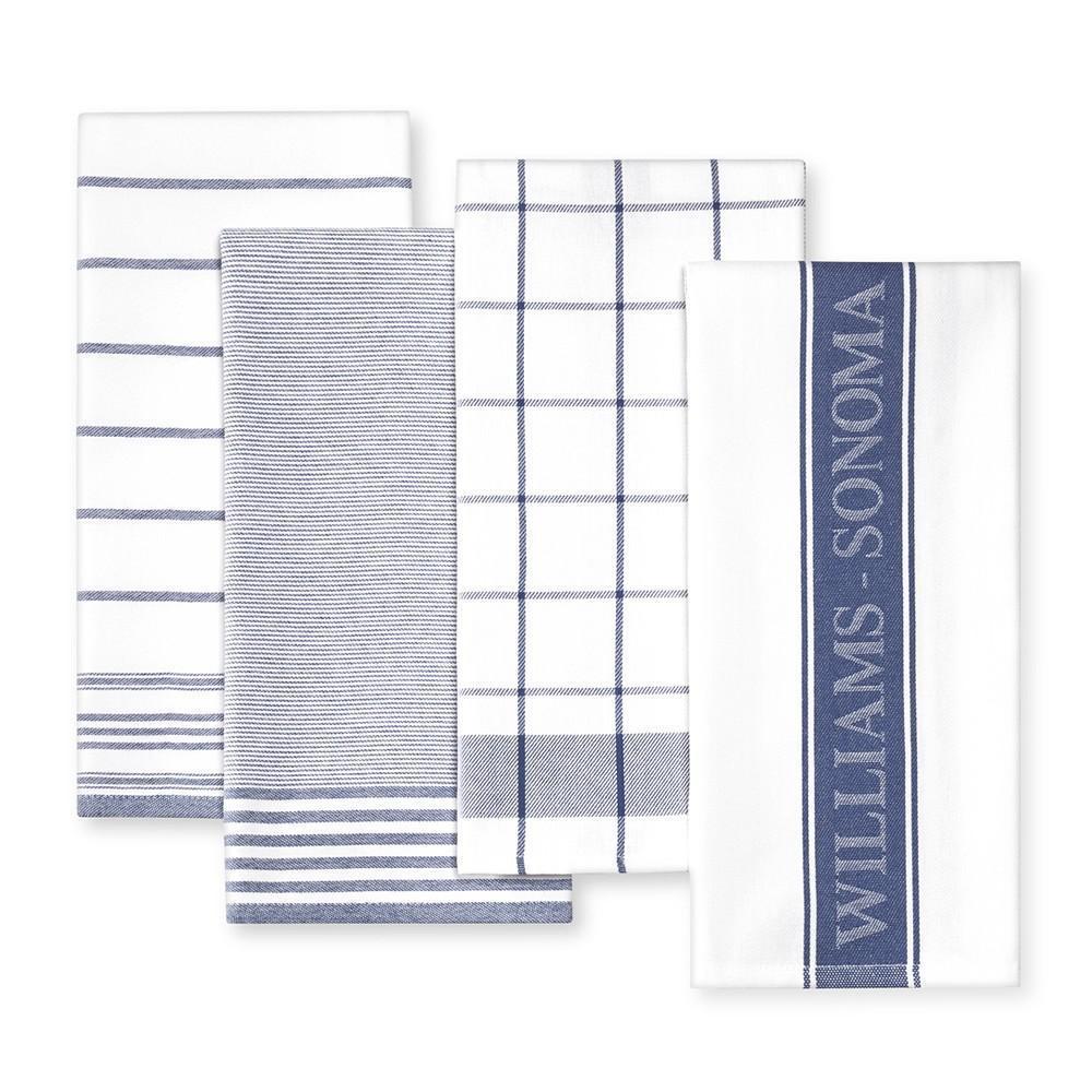 Williams Sonoma Multi-Pack Tea Towels, Bright Blue