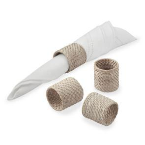 White Wash Woven Hapao Napkin Ring