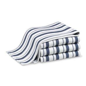 Williams Sonoma Classic Striped Tea Towels, Set of 4, Bright Blue