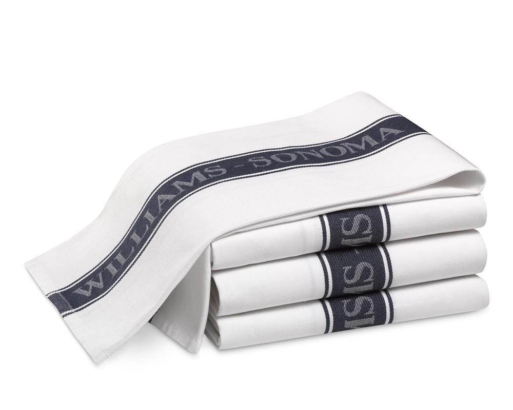 Williams Sonoma Logo Tea Towels, Set of 4 - Navy