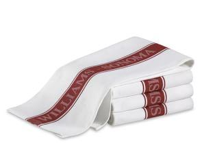 Williams Sonoma Classic Logo Tea Towels, Set of 4, Claret Red