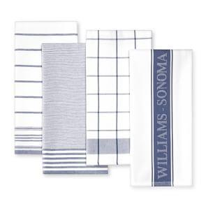 Williams Sonoma Multi-Pack Tea Towels, Bright Blue