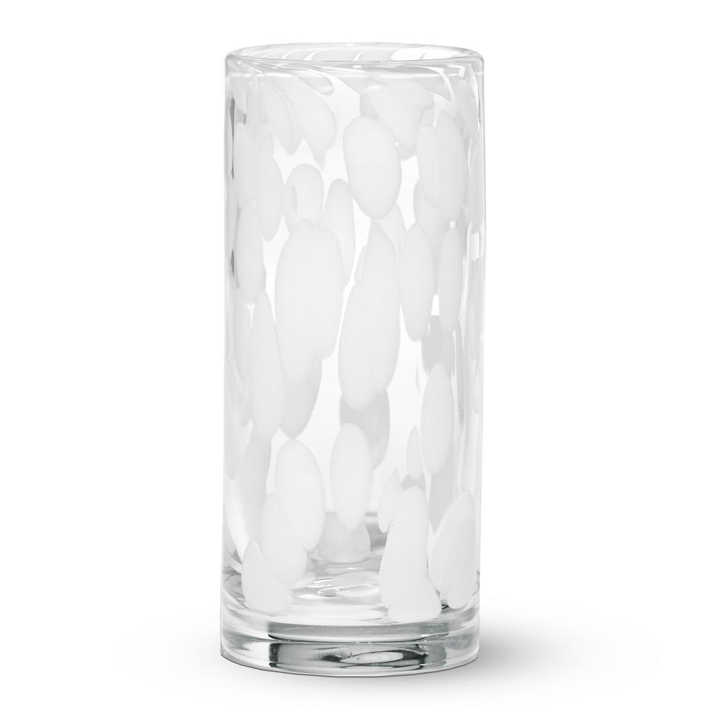 AERIN White Confetti Highball Glass