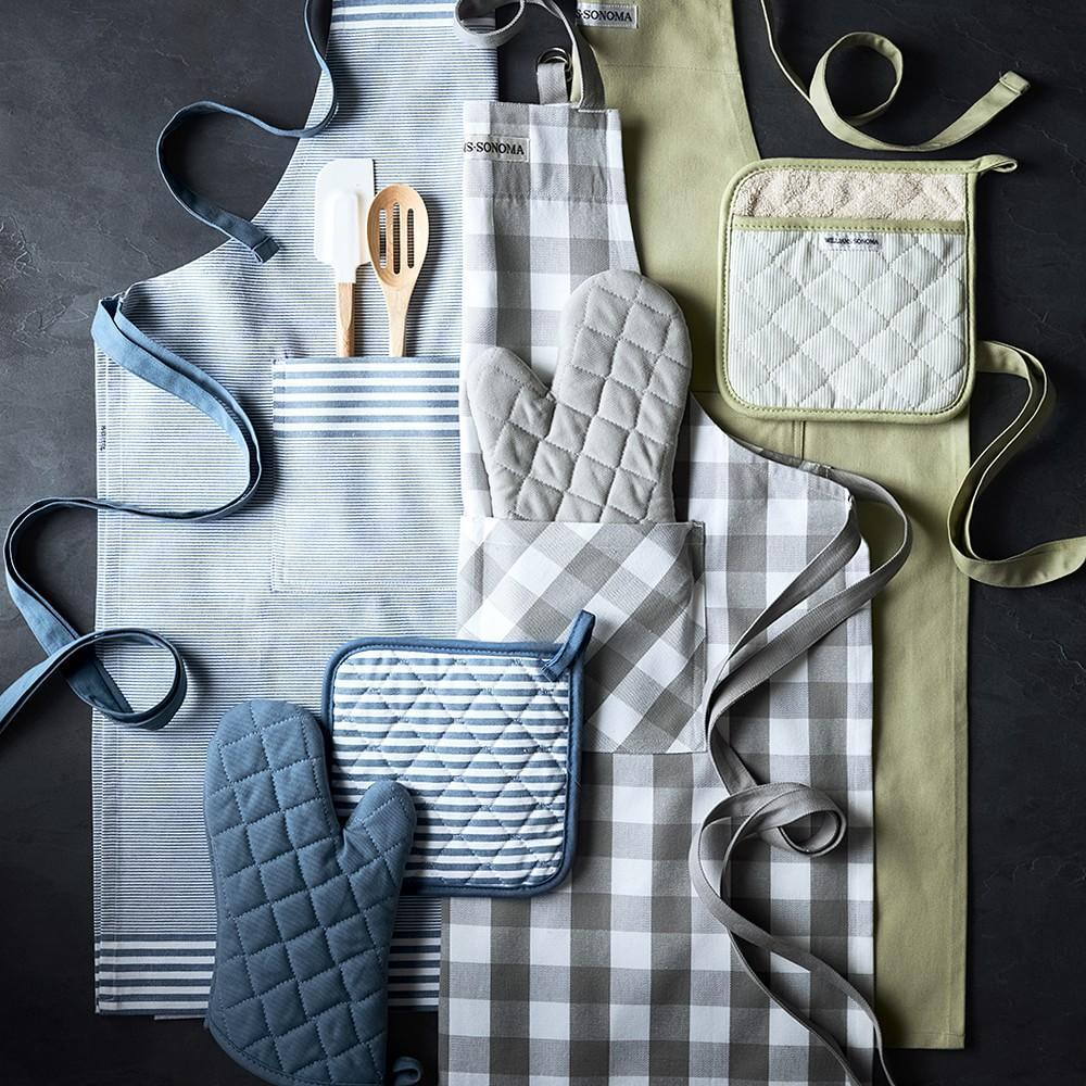 Williams Sonoma Solid Oven Mitt, French Blue