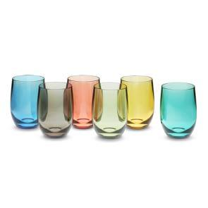 DuraClear® Tritan Osteria Bordeaux Glasses, Multicolored