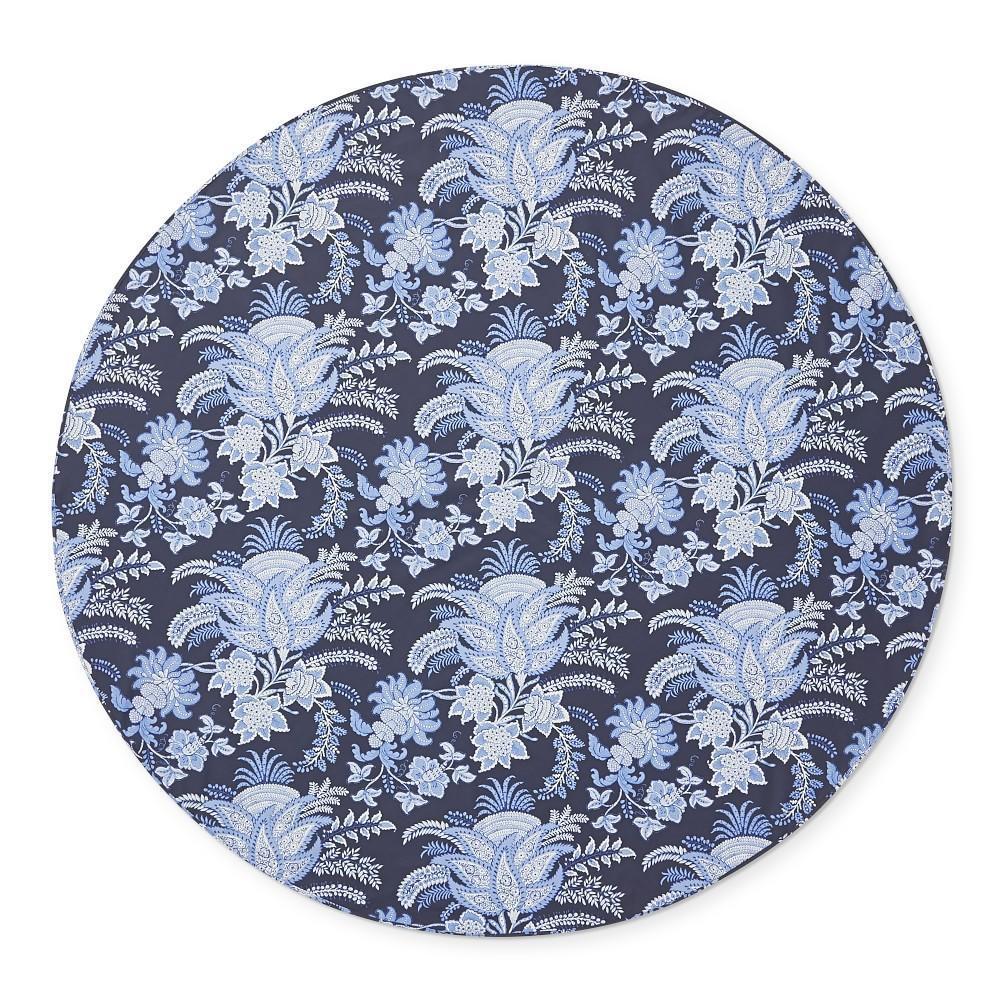 Sumatran Floral Oilcloth Outdoor Round Tablecloth, 178 cm